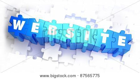 Website - White Word on Blue Puzzles.