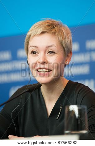 BERLIN, GERMANY - FEBRUARY 10:  Viktoriya Korotkova attends the 'Under Electric Clouds' press conference during the 65th Berlinale International Film Festival at  Hyatt Hotel on February 10, 2015