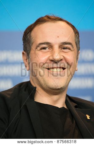 BERLIN, GERMANY - FEBRUARY 10: Merab Ninidze  attends the 'Under Electric Clouds' press conference during the 65th Berlinale International Film Festival at  Hyatt Hotel on February 10, 2015