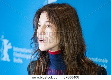 BERLIN, GERMANY - FEBRUARY 10: Actress Charlotte Gainsbourg attend the 'Every Thing Will Be Fine' photocall. 65th Berlinale International Film Festival at  Hyatt Hotel on February 10, 2015