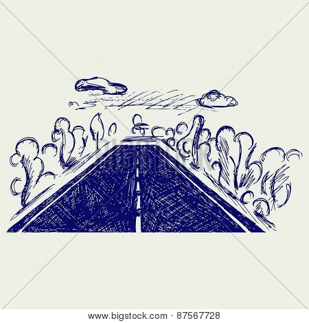 Road. Doodle style