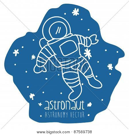 astronaut drawn