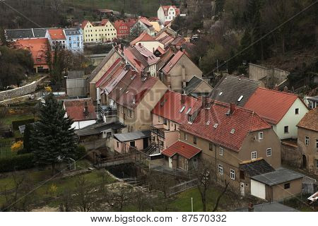 BAUTZEN, GERMANY - APRIL 7, 2012: Traditional German houses in the town of Bautzen, Upper Lusatia, Saxony, Germany.