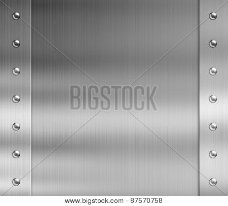 stainless steel metal frame with rivets