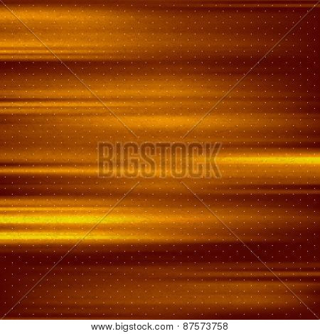 Abstract gold background. Metal plate with reflected light. Vintage style. Vector illustration.