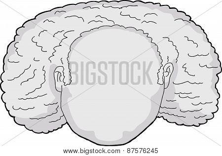 Blank Curly Head Avatar