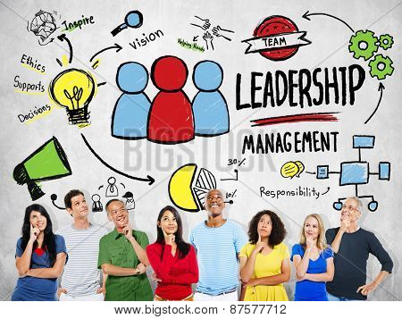 Diversity Casual People Leadership Management Team Ideas Concept