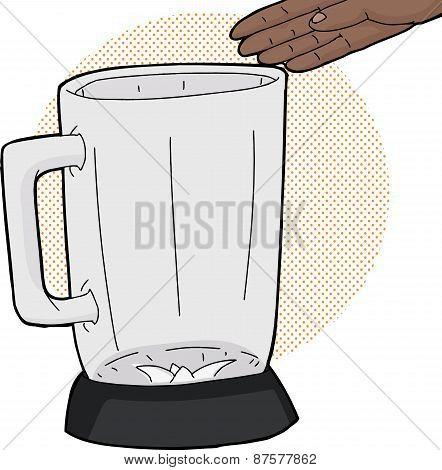 Empty Hand Over Blender