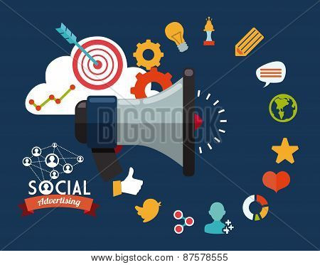 social advertising design vector illustration eps10 graphic