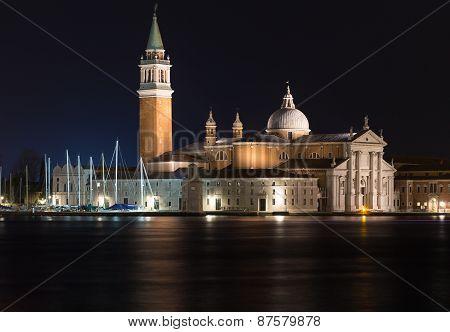 Church Of San Giorgio Maggiore At Night