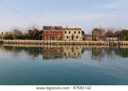 Buildings Near Burano, Italy