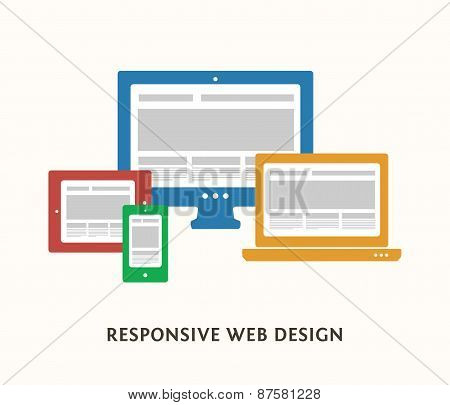 Responsive design illustration