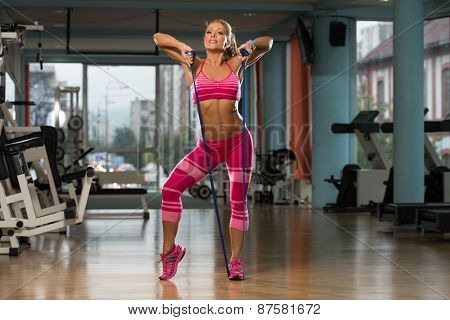 Fit Athlete Is Playing Around With Jumping Rope
