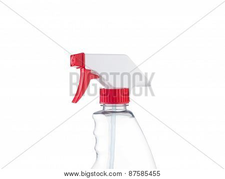 Spray Bottle Head Close-up Isolated On White Background