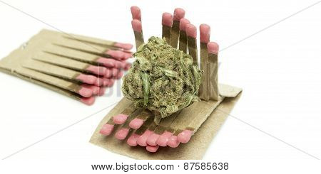 marijuana and matches