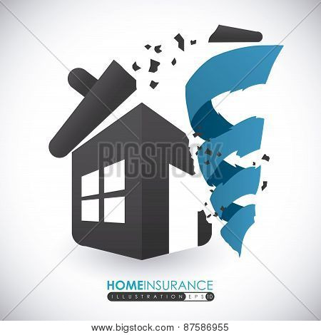 Home Disaster Insurance design, vector illustration.
