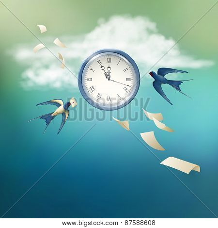 Time Abstract Vector Concept Design