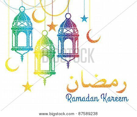 Ramadan Kareem. Vector Illustration