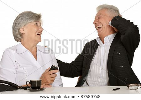 Two elderly people