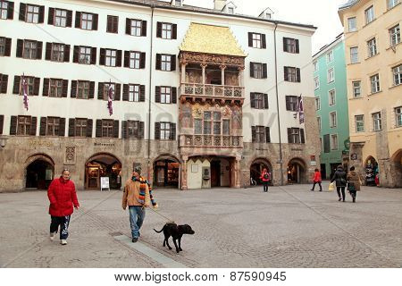 Famous Golden Roof In Innsbruck, Austria