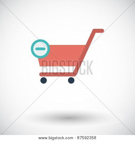 Cart single icon.