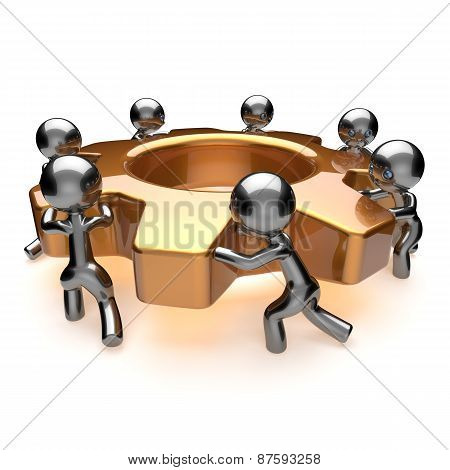 Team Work Cooperation Business Process Efficiency Teamwork Concept