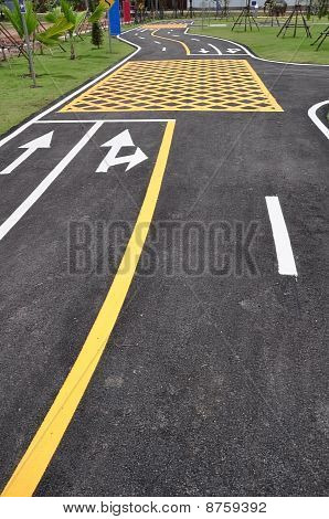 Arrow On S Curve Road