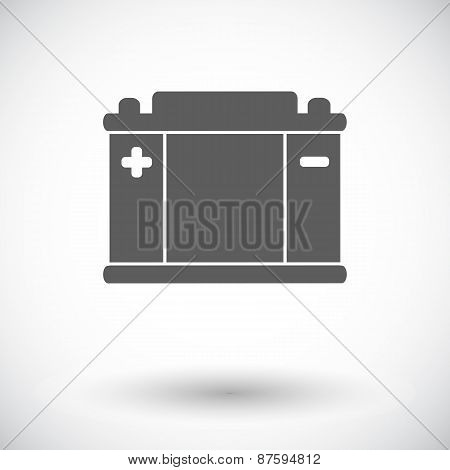 Battery flat icon.