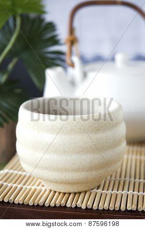 Close Up Japanese Tea Cup