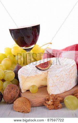 cheese grape and wine