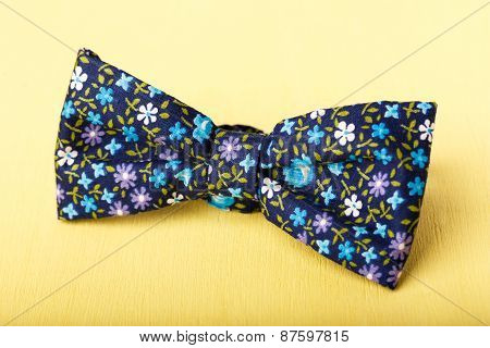 Bow Tie On Yellow