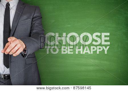 Choose to be happy on blackboard