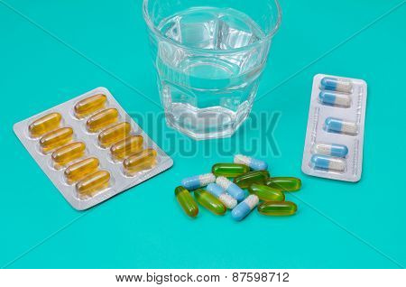 Water glass and medicaments