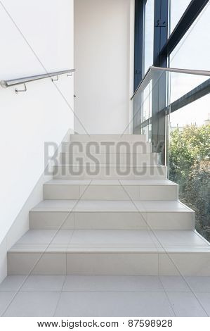 Shining Stairs In Modern Building