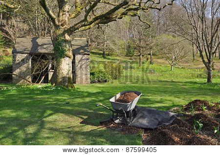 Garden Outhouse And Barrow