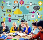 image of social system  - Social Media Social Networking Technology Connection Concept - JPG