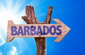 foto of citizenship  - Barbados wooden sign with sky background - JPG