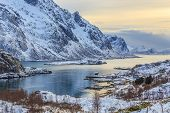 picture of lofoten  - Lofoten Islands in Arctic Circle are the most beautiful place in the Northern Norway - JPG