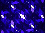 picture of parallelogram  - Artistic parallelograms fractal shapes computer generated abstract background - JPG