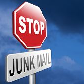 stock photo of no spamming  - stop junk mail and spam before it - JPG