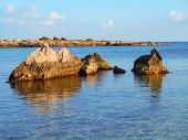 picture of off-shore  - Seascape at sunset off the coast of Southern Italy - JPG