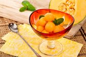 foto of cantaloupe  - Cantaloupe Melon and Mint - JPG