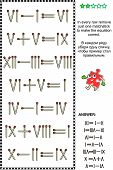 foto of subtraction  - Visual math puzzle with roman numerals - JPG