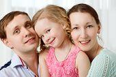 pic of shy girl  - Portrait of happy family - JPG