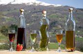 picture of liquor bottle  - photo of the three liquor bottles - JPG