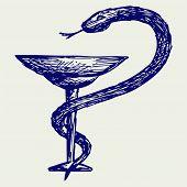 stock photo of scepter  - Medical sign - JPG