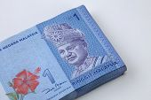 picture of ringgit  - stack of the Malaysia ringgit one dollar - JPG