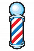 stock photo of barber  - Barber Pole - JPG