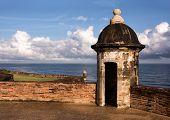 foto of san juan puerto rico  - Historic Sentry Boxes of Old San Juan Puerto Rico - JPG