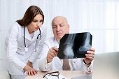 foto of radiogram  - Doctors receiving X - JPG